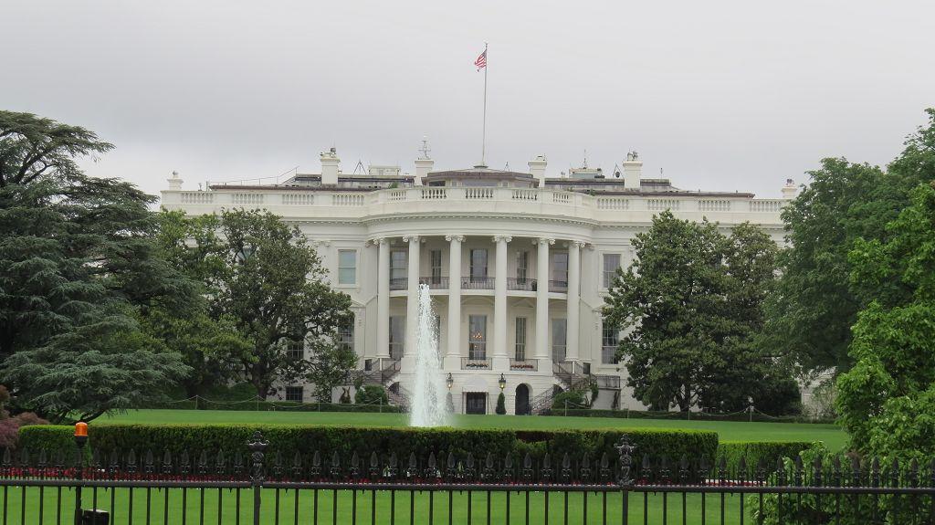 Gartenansicht Weißes Haus