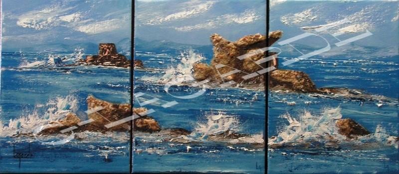 248 Rochers en pleine mer 24x18x3