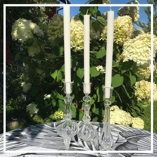 Kerzenständer aus Glas - von Des Pots