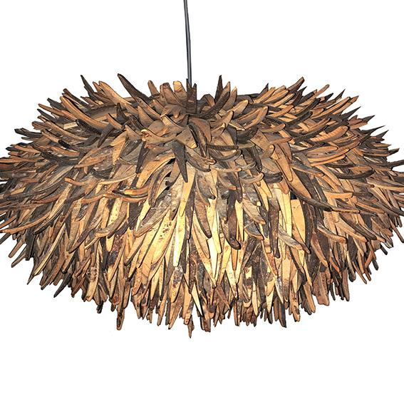 Cocoblüte Hängeleuchte groß natur - braun - Lampen online kaufen bei Lebenswerte
