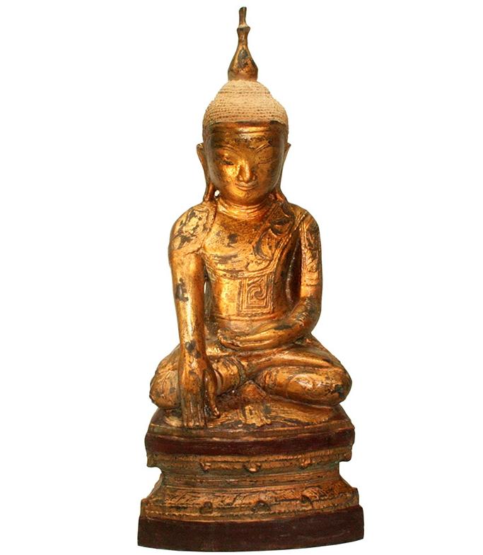 sitzender Shan Buddha aus Bronze