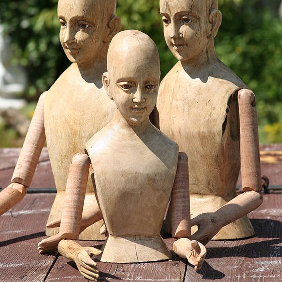 Holzbüsten & Holzfiguren zum Dekorieren