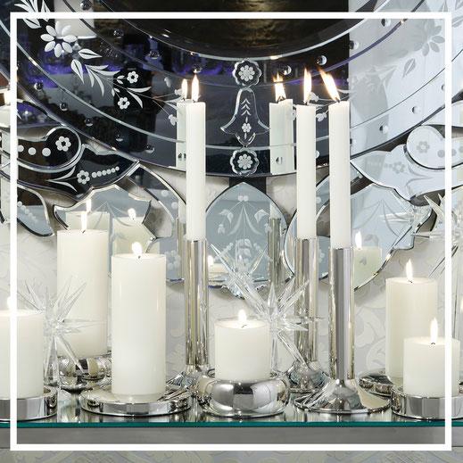Kerzenständer aus Edelstahl - von Fink & Engels Kerzen