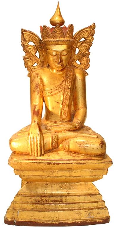 Königsbuddha aus Burma - Buddhastatue aus Burma - burmesischer Buddha