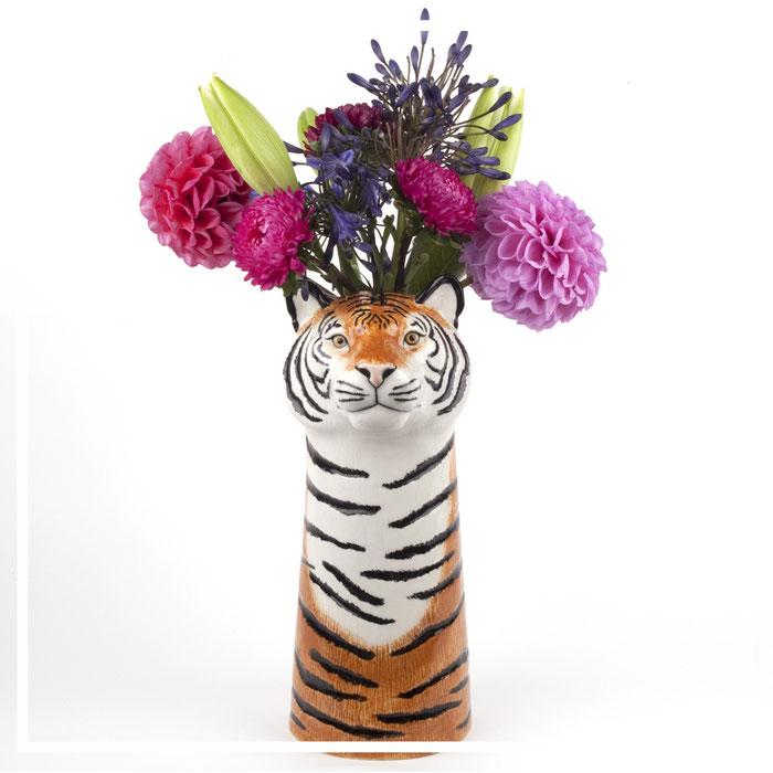 große Tigervase von Quail Ceramics