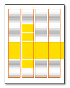 gabbia impaginazione 4 colonne