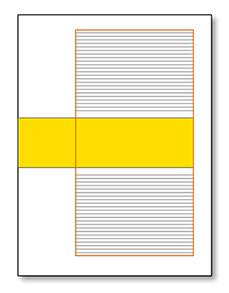 gabbia impaginazione a 1 colonna asimmetrica