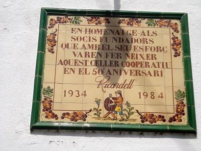 Inschrift am Eingang der Koperative