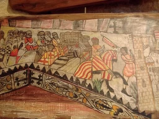 Kreuzritter belagern eine maurische Burg
