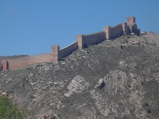 Befestigte Mauer um den Ort
