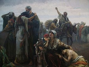 Gabriel Puig Roda: Vertreibung der Morisken (1894/Detail) - Museu de Belles Artes Castelló