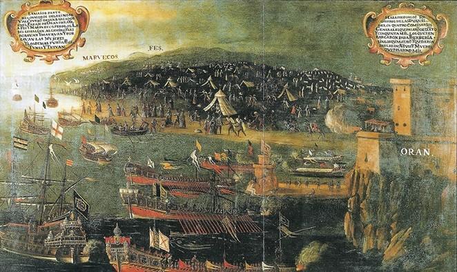 Flüchtlingselend damals - Vincente Mestre (1613): Ankunft von Morisken in Oran
