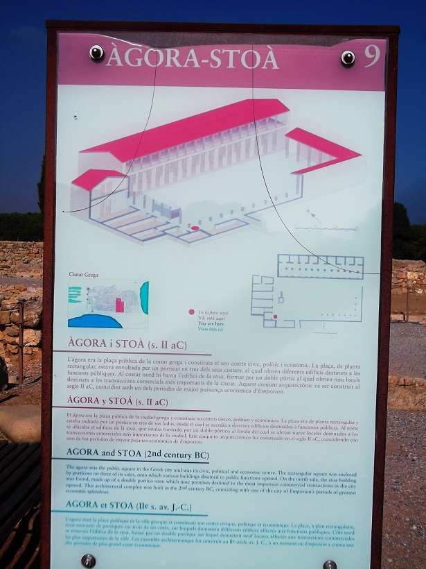 Rekonstruktionbild Agora-Stoa