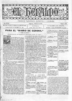 """Titelblatt einer Ausgabe des """"Heraldo"""""""