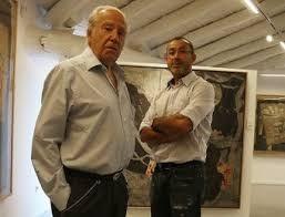 Don Carlos de Aguilera und der Maler Miguel Rasero (Quelle: Blog Claudi Puchades)
