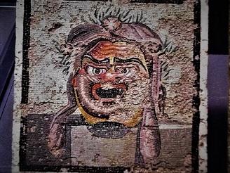Mosaik mit Schauspielermaske