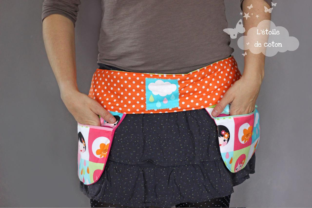 15efa14611d9 Tabliers et ceintures à poches - Le site pour apprendre à coudre seul(e) !