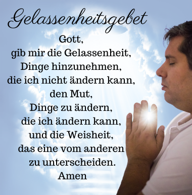 Das Gelassenheitsgebet
