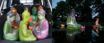 Vernissage Floating Buddhas, Kunstprojekt
