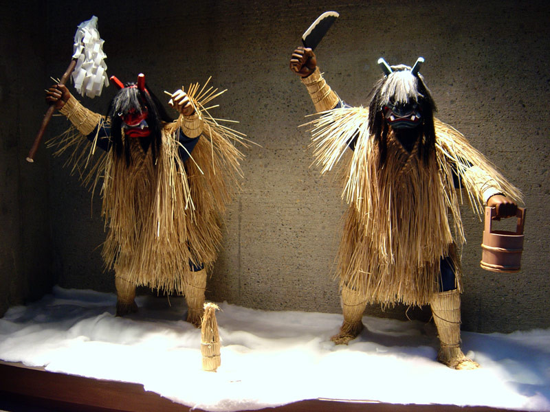Figures at the Namahagé Museum