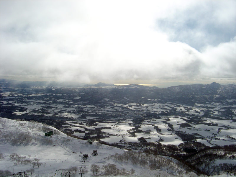The view from the top of Niseko Village