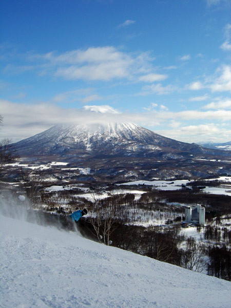 Mt. Yotei seen from the Niseko Village resort