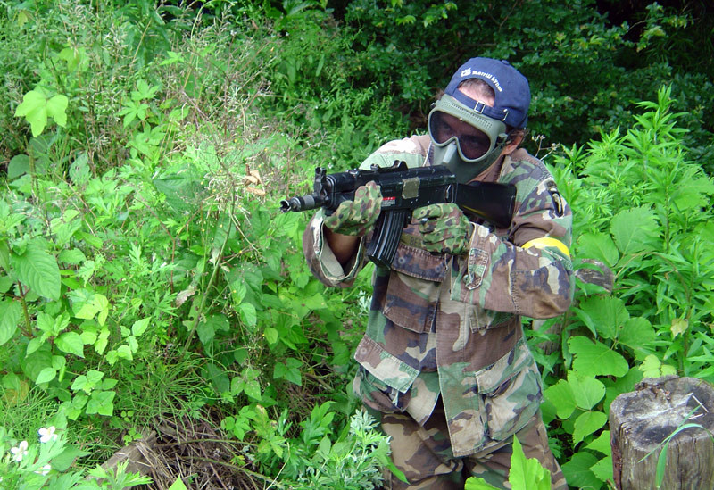 Air soft gear in action