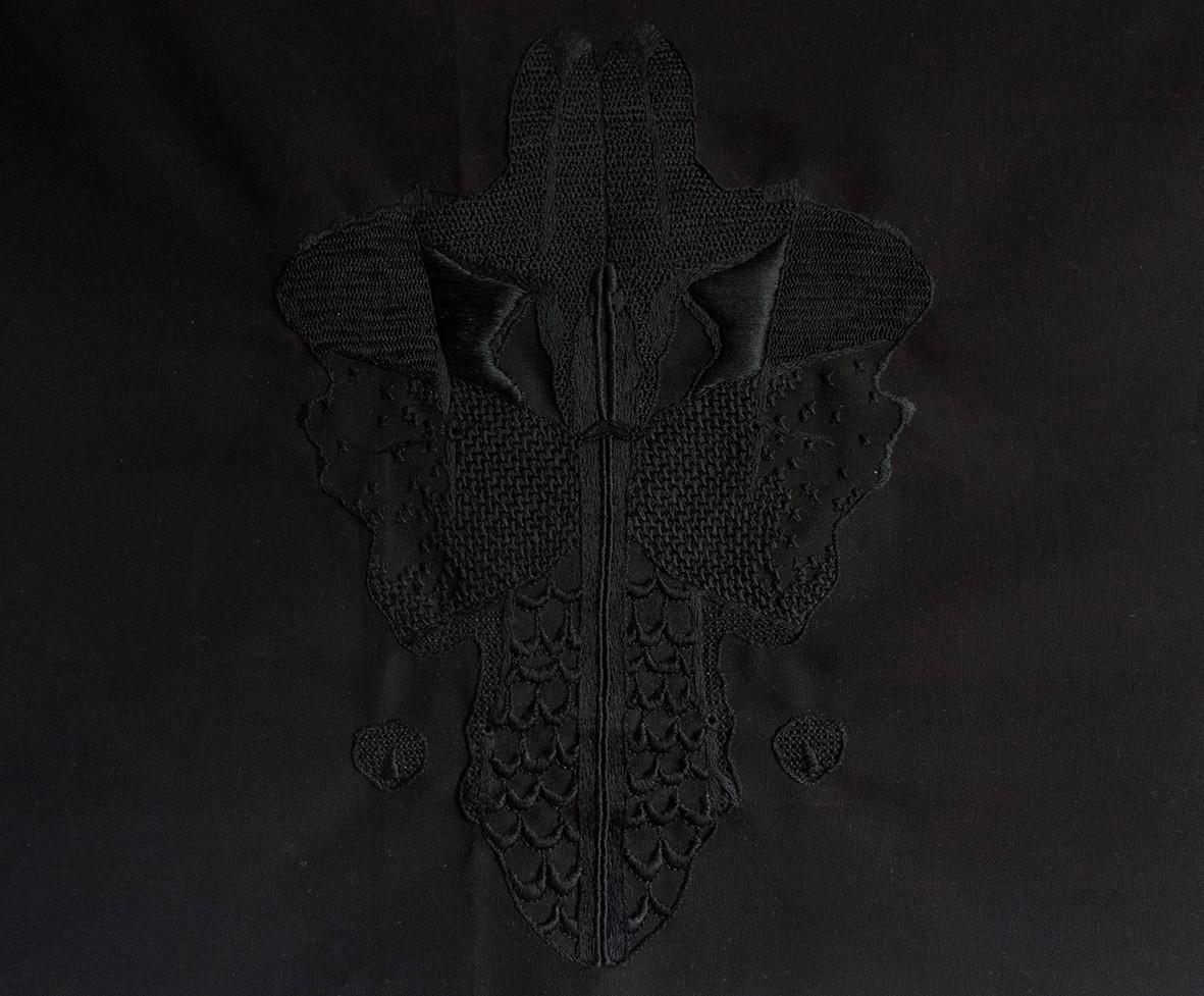 L'ombre du rêve, 2016, Broderie sur coton