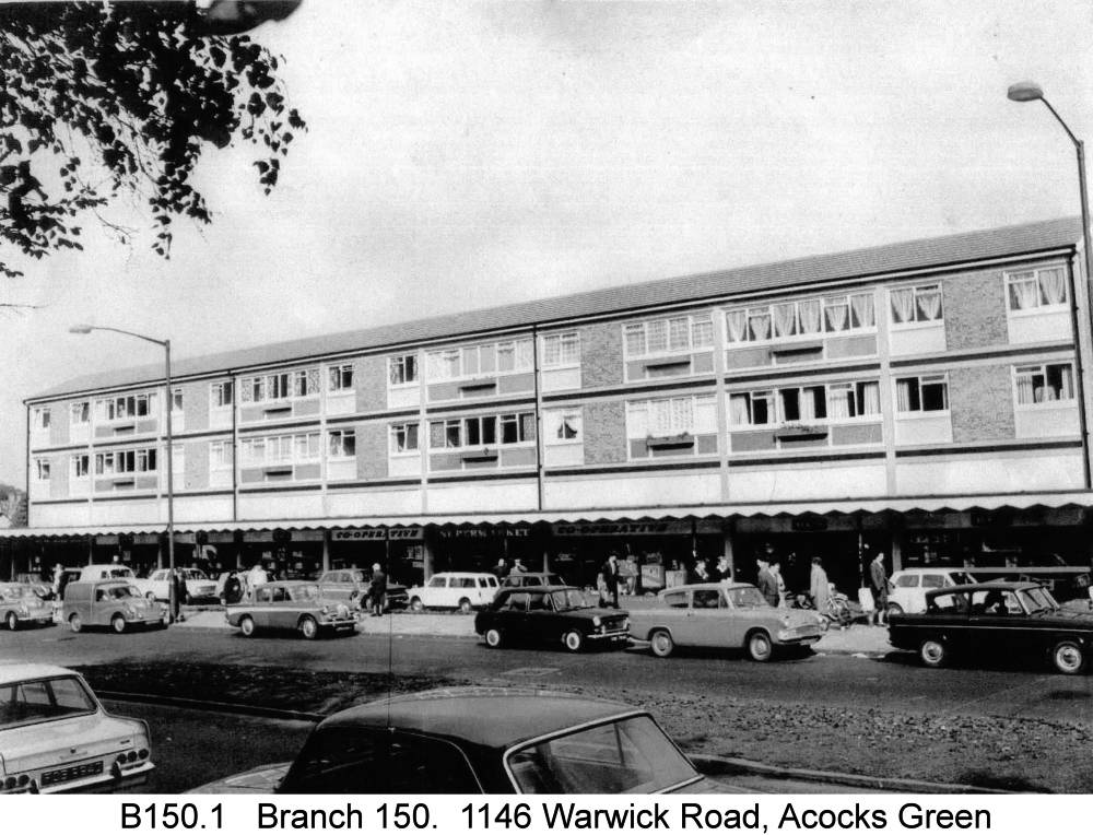 The 1960s row on the Warwick Road. Copyright Central England Co-operative