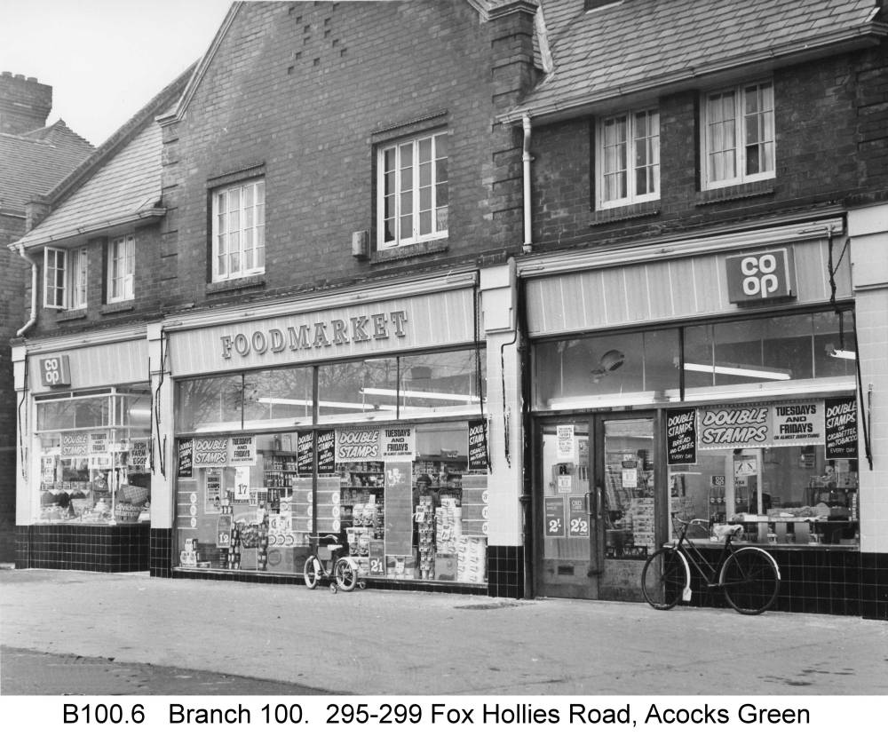 A later view of the Fox Hollies Road branch. Copyright Central England Co-operative