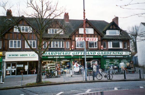 Shop row, Shirley Road, built c. 1930, in a popular mock Tudor style