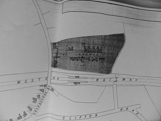 Extract from the Cook estate map 1875 (Birmingham Libraries)