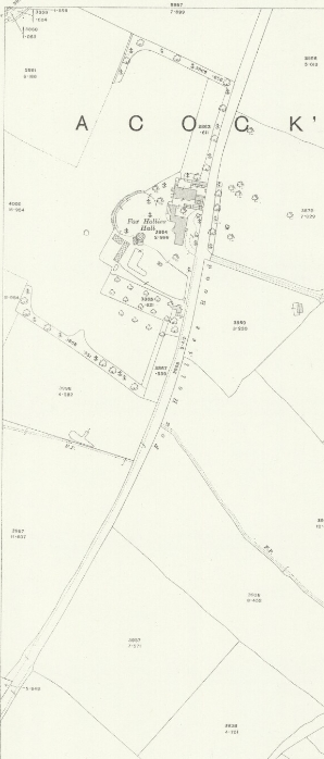 Fox Hollies Road south O.S. 1916. The map is virtually identical to the 1888 edition. (University of Birmingham)