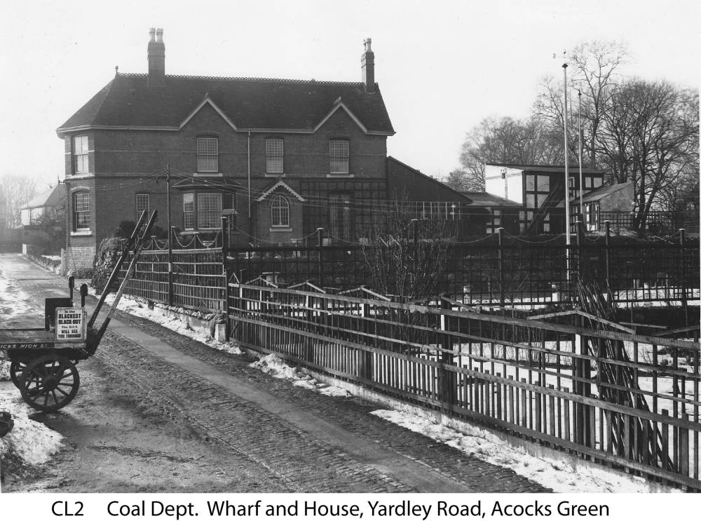 The wharf and house on the canal at Yardley Road. Copyright Central England Co-operative
