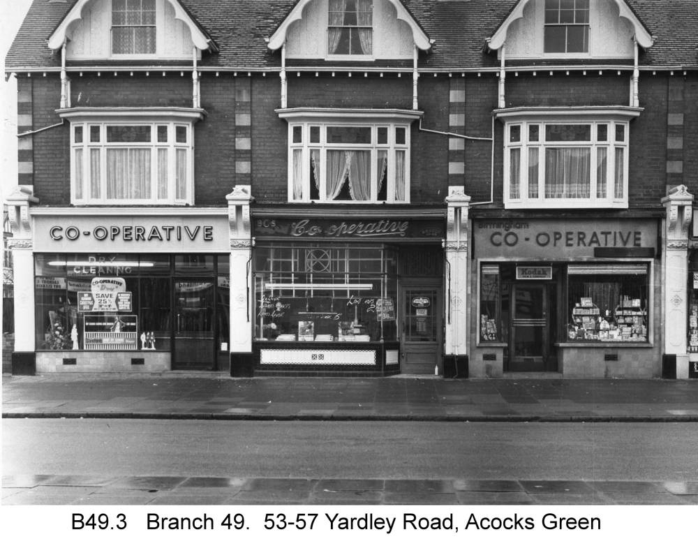 53-57 Yardley Road. Copyright Central England Co-operative