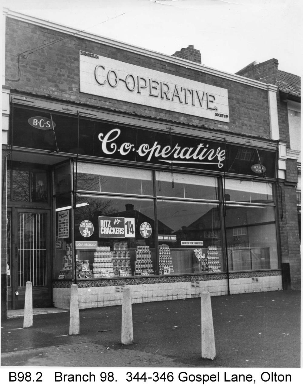 The shop at Gospel Lane. Copyright Central England Co-operative