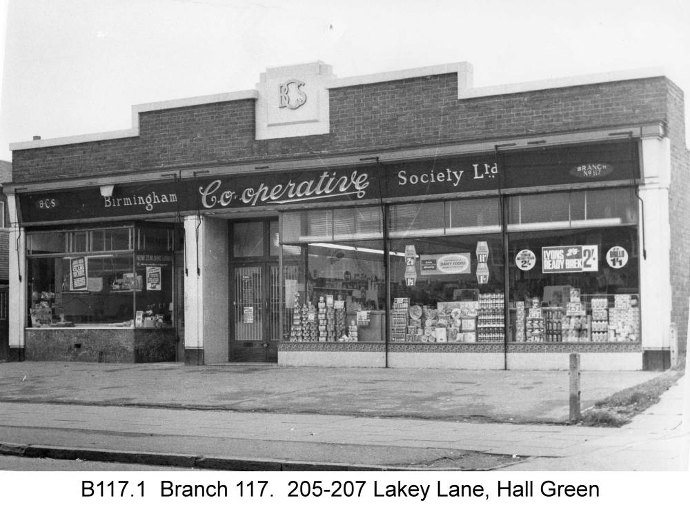 The shops at Lakey Lane. Copyright Central England Co-operative