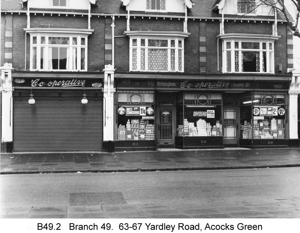 63-67 Yardley Road. Copyright Central England Co-operative