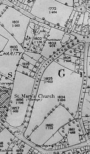 Extract from 1886-8 O.S. map