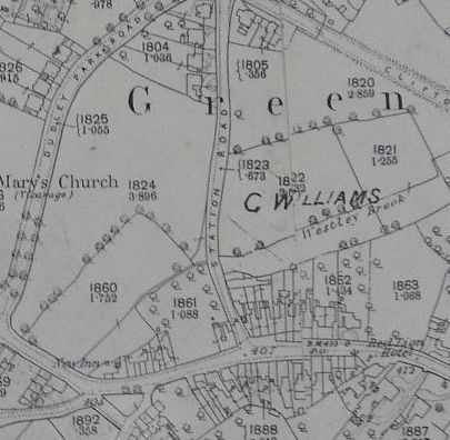 Extract from O.S. map, 1888