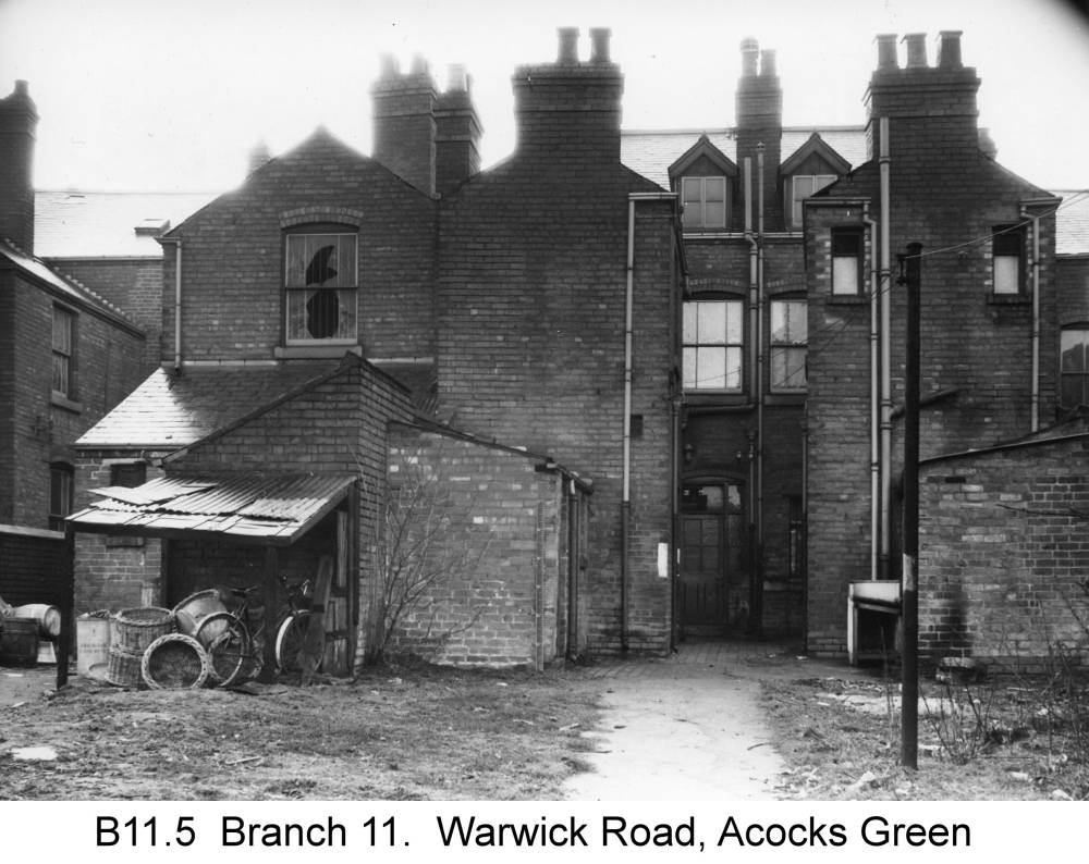 The back of the Warwick Road shops. Copyright Central England Co-operative
