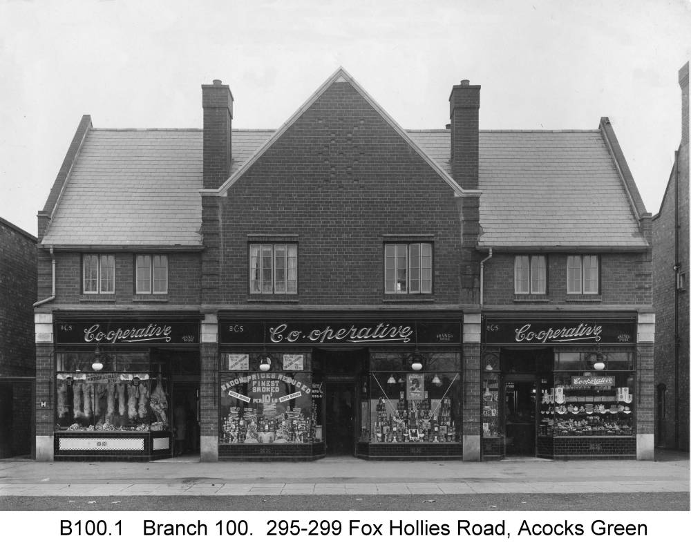 The Fox Hollies Road branch. Copyright Central England Co-operative