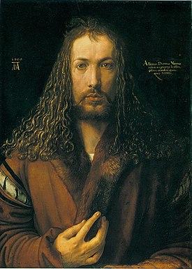 En este óleo sobre tabla, pintado en 1500, Alberto Durero se muestra a sí mismo como Jesucristo