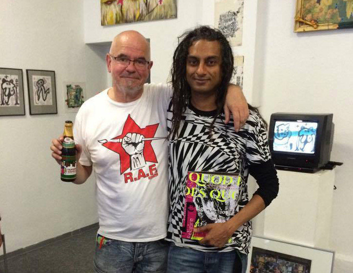 DeePee & Fluxuskünstler Richard Williams / DeePee & fluxus artist Richard Williams