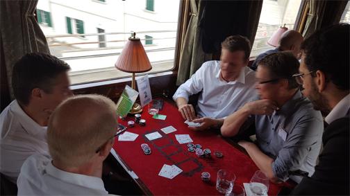 Soirée poker dans l'Orient Express