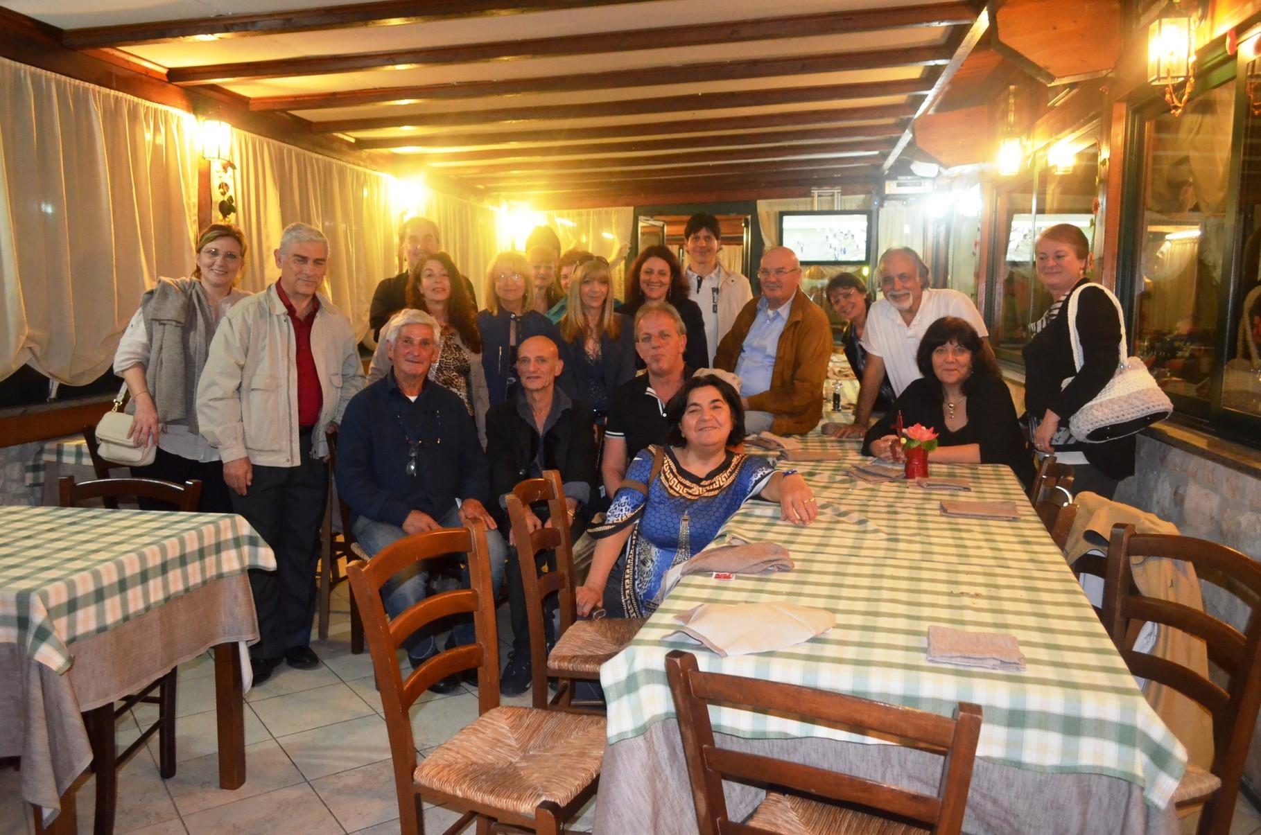 """cena alla """"Veranda"""",maggio 2014"""
