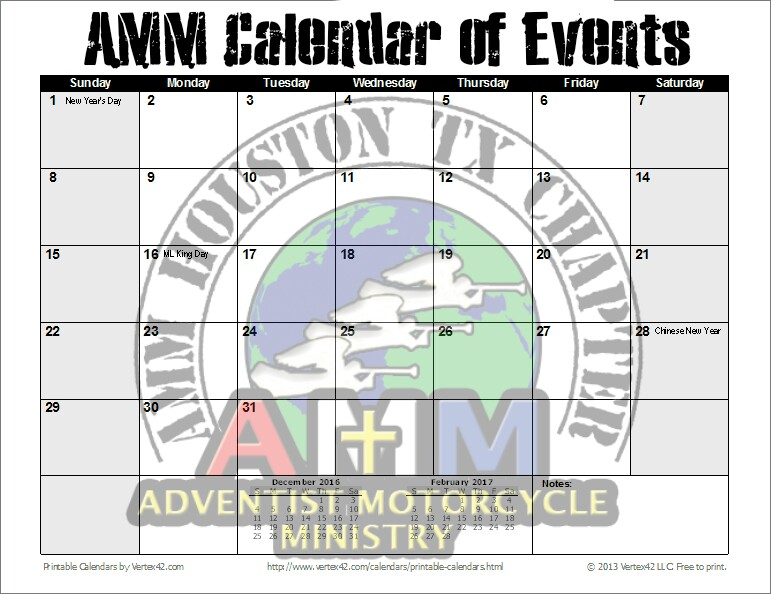 Click image to see AMM Calendar of Events