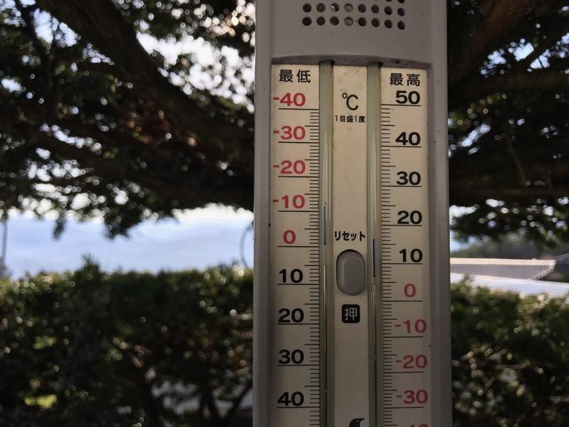 4月6日最低気温マイナス1度