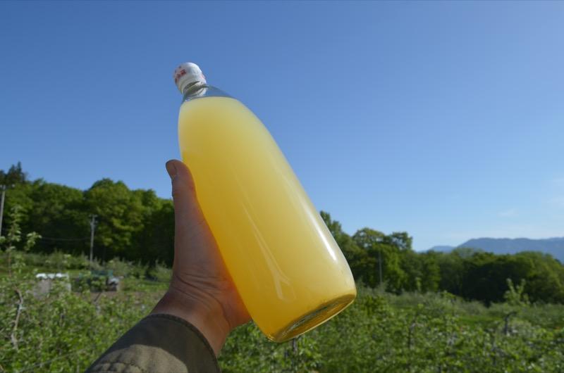 2月13日の瓶詰めから3ヶ月経ったサンふじジュース