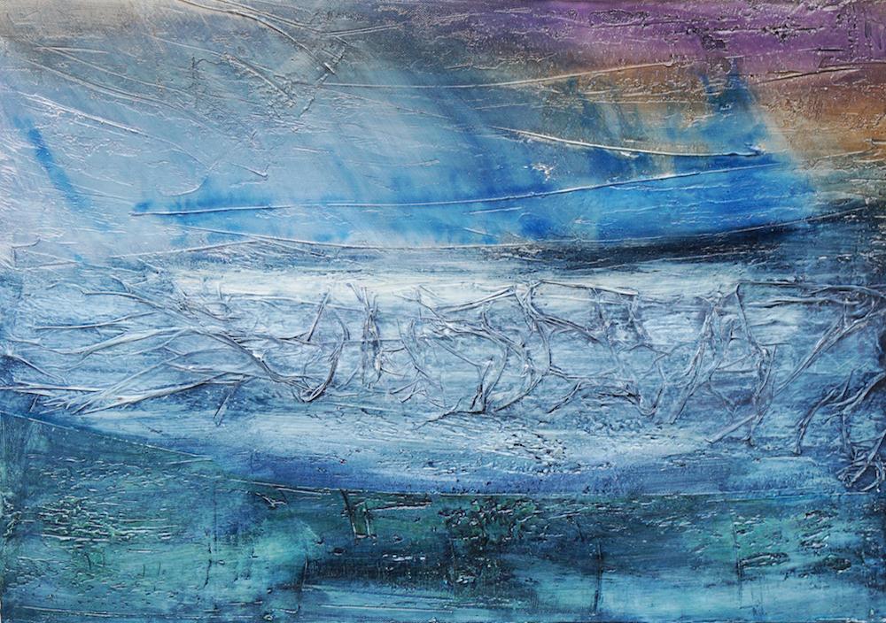 Tosendes Meer, wogender Himmel | 50 x 70 x 4cm | 2017